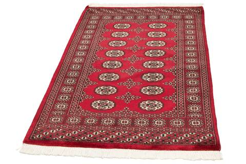 3x5 Red Bokhara Oriental Rug 2