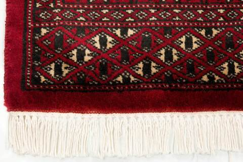 3x5 Red Bokhara Oriental Rug 3