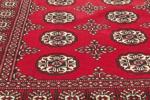 3x5 Red Bokhara Oriental Rug 4