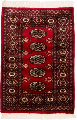 Overhead image of the 2 feet wide x 2 feet 11 inch long red with gold and ivory borders and gulls.