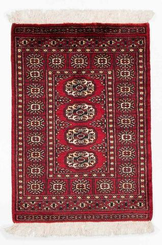 Red Bokhara Oriental Rug 2