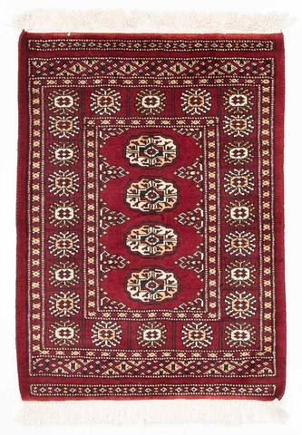 2.08 x 2.92' Red Bokhara Oriental Rug