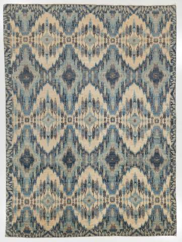 7.92 x 10.75' Multi Colored Ikat Rug