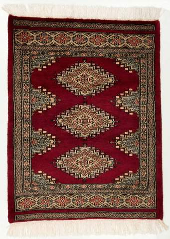 2 x 2.75' Red Bokhara Oriental Rug