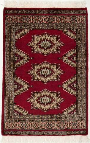 Red Bokhara Oriental Rug 106