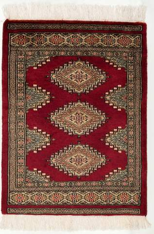 2 x 2.83' Red Bokhara Oriental Rug