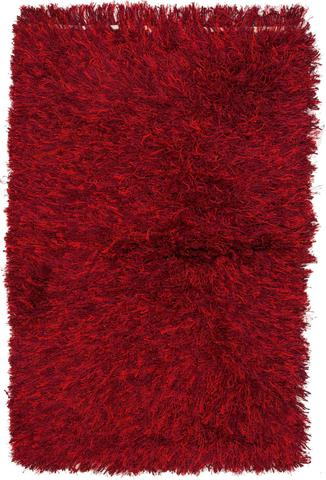 2.50 x 4' Merlot Contemporary Shag Rug