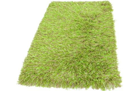 Neon Green Contemporary Shag Rug 7