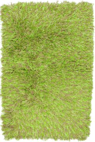 Neon Green Contemporary Shag Rug 6