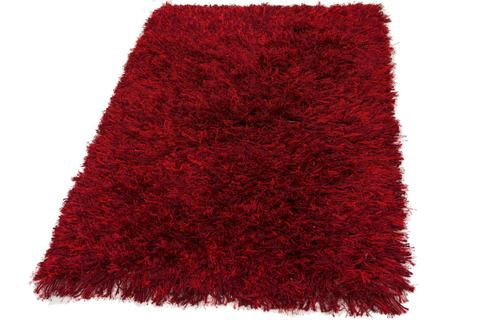 Red Contemporary Shag Rug 12