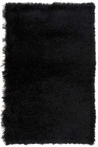 2.58 x 4' Black Contemporary Shag Rug