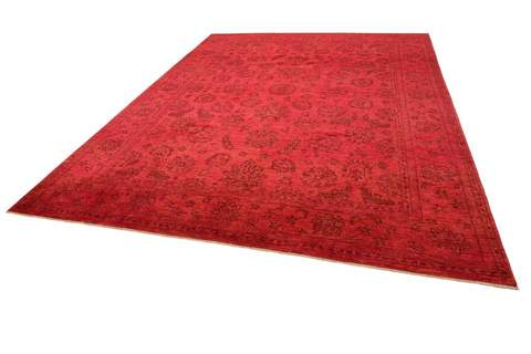8.5 x 11.4' Red Overdyed Ziegler Rug 1