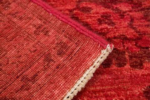 8.5 x 11.4' Red Overdyed Ziegler Rug 4