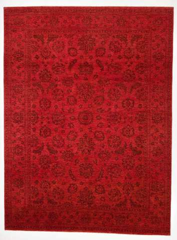 8.5 x 11.4' Red Overdyed Ziegler Rug