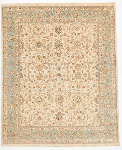 Ivory and Blue Peshawar Ziegler Rug
