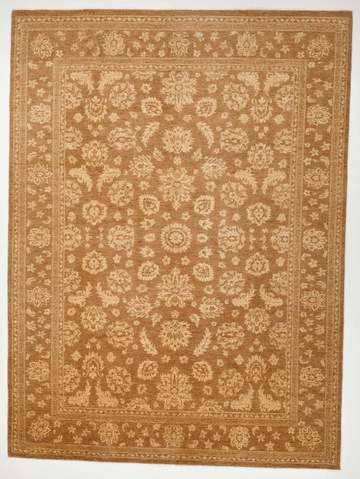 8.5 x 11.5' Honey and Ivory Overdyed Ziegler Rug