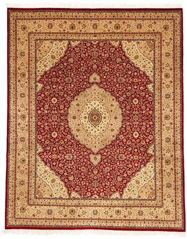 8 x 10' Red and Ivory Antique Sootri Rug