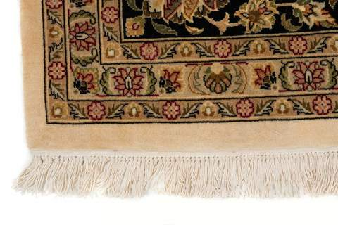 9x12 Pearl/Sage/Walnut Persian Rug zoom in edges