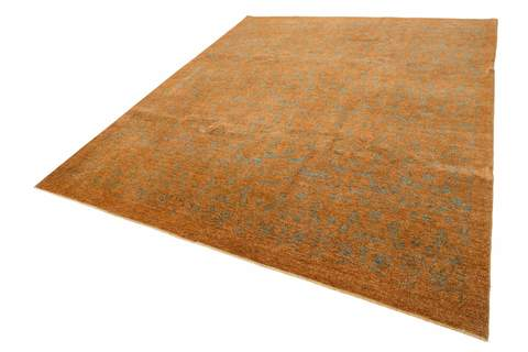 Overdyed Ziegler Rug brown