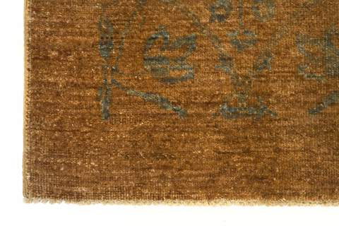 brown Overdyed Ziegler Rug 7x10