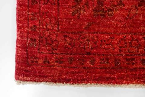7x9 Overdyed Rug red