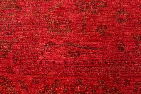 red Overdyed ziegler rug