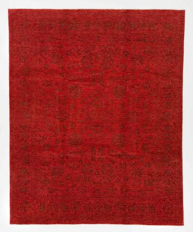 7.11 x 9.11' Red Overdyed Ziegler Rug