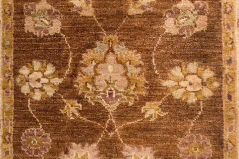 runner rug brown and beige 3x10