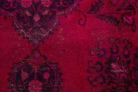 9.33 x 12.67' Pink Overdyed Antique Rug