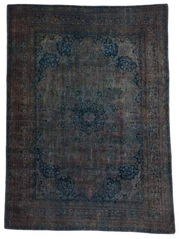7.83 x 10.67' Blue Overdyed Antique Rug