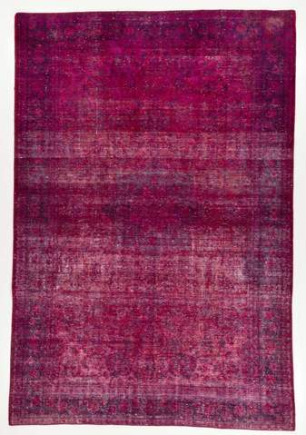 7.92 x 11.5' Purple Overdyed Rug