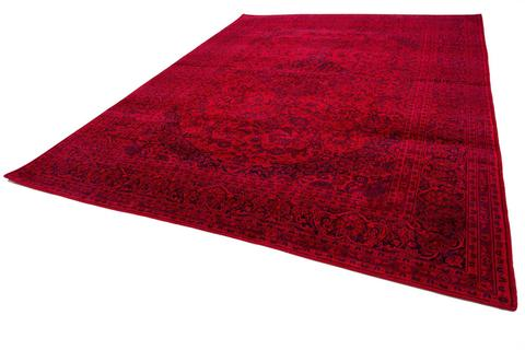 9.5 x 12.75' Red Overdyed Antique Rug