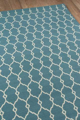 Blue Egyptian Geometric Modern Rug 3