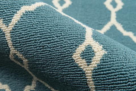 Blue Egyptian Geometric Modern Rug 4