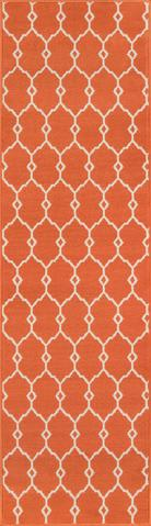 Orange Egyptian Geometric Modern Rug 2