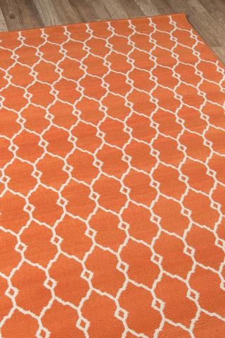 Orange Egyptian Geometric Modern Rug 3