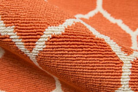 Orange Egyptian Geometric Modern Rug 4