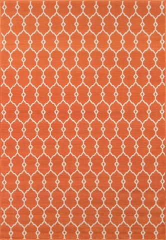Orange Egyptian Geometric Modern Rug