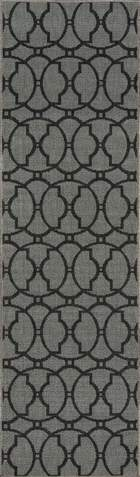 Charcoal Egyptian Geometric Modern Rug 2