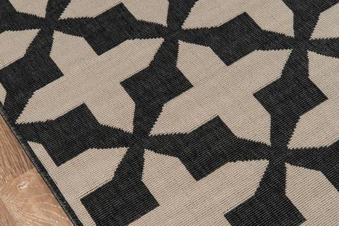 Charcoal Egyptian Geometric Modern Rug 1