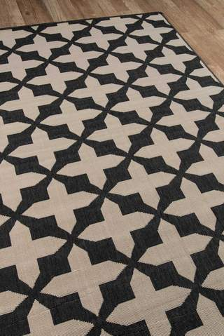 Charcoal Egyptian Geometric Modern Rug 3
