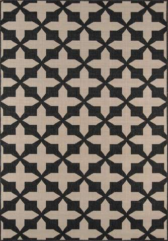 Charcoal Egyptian Geometric Modern Rug