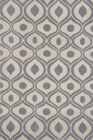 Grey Chinese Geometric Modern Rug