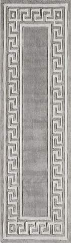 Grey Chinese Geometric Modern Rug 2