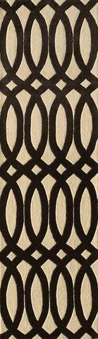 Black Indian Geometric Modern Rug 2