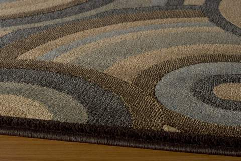 Brown Turkish Transitional Modern Rug 1