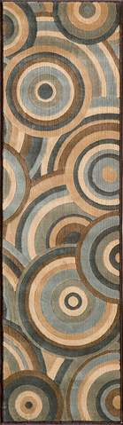 Brown Turkish Transitional Modern Rug 2