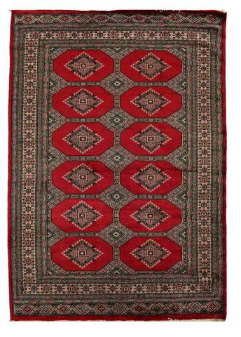 4x6 Red Bokhara Oriental Rug