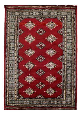 4' x 6' Red Bokhara Rug
