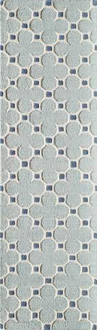 Blue Indian Transitional Modern Rug 2